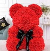 Teddy beer van kunstrozen - Teddy bear - Rode Rozen - love - liefde - Moederdag - Valentijnsdag - Rose Teddy - verjaardag - valentijnscadeau