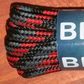 Bergal 0701 Bergschoen veter 120cm Zwart Grijs Rood