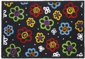 Polyamide Multi kleuren Ambiance Flash Flowers 50x70 cm