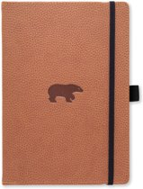 Dingbats A5+ Wildlife Brown Bear Notebook - Dotted