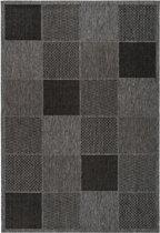CleanWalk binnen/buiten karpet Block grijs 120 x 170 cm