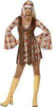 Jaren 60 jurkje Groovy Baby - Hippie verkleedkleding dames maat 40/42