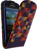 Mobilize Ultra Slim Flip Case Samsung Galaxy SIII mini I8190 Viola Triangle