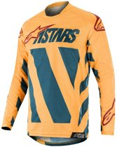 Alpinestars Crossshirt Racer Braap Petrol Tan/Maroon-S