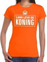 Oranje Lang leve de Koning t-shirt dames XL