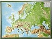 Reliefkarte Europa Gross 1 : 8.000.000 mit Rahmen