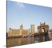 Gebouwen in Bombay Canvas 180x120 cm - Foto print op Canvas schilderij (Wanddecoratie woonkamer / slaapkamer) XXL / Groot formaat!