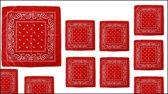 20x Boeren zakdoek rood 54 x 53 cm