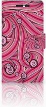 HTC Desire 628 Hoesje Swirl Pink
