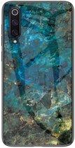 Shop4 - Samsung Galaxy A70 Hoesje - Harde Back Case Marmer Blauw