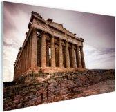 Het Parthenon Glas 180x120 cm - Foto print op Glas (Plexiglas wanddecoratie) XXL / Groot formaat!