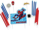 Birthday Candle Set Spider-Man with 17 candels