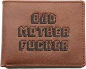 United Entertainment Originele Bad Mother Fucker Portemonnee - Met Muntvakje en Rijbewijs Card - Bruin