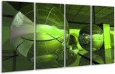 Glasschilderij Modern | Groen, Zwart | 160x80cm 4Luik | Foto print op Glas |  F004371