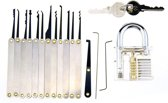 Uitgebreide Lock Pick set voor beginners en gevorderden – Lockpick gereedschap tools – Lockpicking – 20 delige set