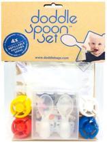 DoddleBags Spoon Set Herbruikbare knijpzakjes met lepels en opbergbox