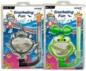 Sportx - Snorkelset - Kinderen - zwarte haai/groene kikker