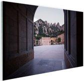 Klooster van Montserrat in Barcelona Glas 90x60 cm - Foto print op Glas (Plexiglas wanddecoratie)