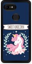 Google Pixel 3 Hardcase hoesje Sweet Unicorn