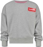 Vingino Meisjes War Child collectie Sweater - Light Grey Melee - Maat 140