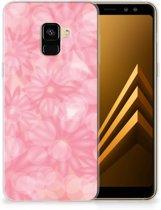 Samsung Galaxy A8 Plus (2018) TPU Case Spring Flowers