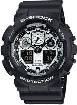 Casio GA-100BW-1AER horloge heren - zwart - kunststof