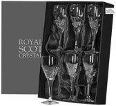 Royal Scot Crystal set 6 Skye witte wijnglazen