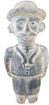 Mexicaans aardewerk beeld - mannetje met hoed - hoogte 28 cm