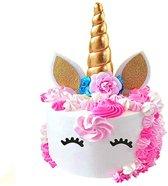 Unicorn cake topper eenhoorn taart versiering + gratis BONUS!