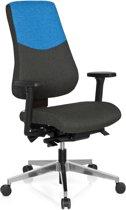 hjh office Pro-Tec 600 - Bureaustoel - Stof - Donkergrijs / lichtblauw