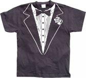 Fun t-shirt Tuxedo heren S
