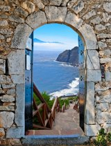 Tuinposter griekse poort Palamidi Walmies