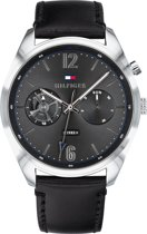 Tommy Hilfiger TH1791548 Horloge - Leer - Zwart - Ø 44 mm