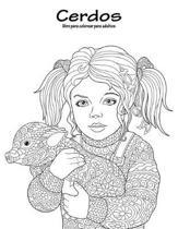 Cerdos Libro Para Colorear Para Adultos 1