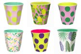 GINGER Medium cup set #2 - 6 melamine bekers