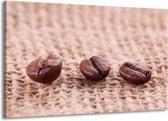Canvas schilderij Koffie | Wit, Bruin | 140x90cm 1Luik