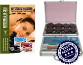 Hot Stone massageset, hotstones in kofferheater 16pcs
