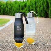 H2O Drink More Water fles - Luxe waterfles met fruitfilter - Fruitwater fles - Fruit infuser - BPA Vrij - 650 ml - Wit
