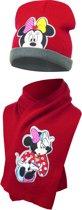 Minnie mouse|muts en sjaal|kleur rood Mt 48/51