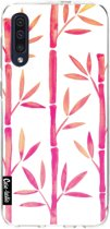 Casetastic Smartphone Hoesje Softcover Samsung Galaxy A50 (2019) - Pink Bamboo Pattern