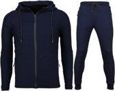 Enos Slim Fit Joggingpak Mannen - Trainingspakken Heren Basic- F552 - Navy - Maten: XL