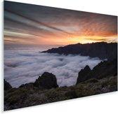 Zonsondergang bij het Nationaal park Caldera de Taburiente in Spanje Plexiglas 90x60 cm - Foto print op Glas (Plexiglas wanddecoratie)