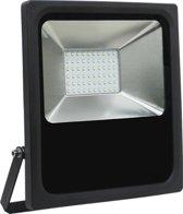 Led bouwlamp 50 watt koud licht zwarte behuizing