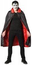 Halloween - Dracula cape kostuum voor volwassenen - zwart met rood- One Size