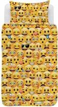 Emoji Iconic - Dekbedovertrek - Eenpersoons - 140 x 200 cm - Geel