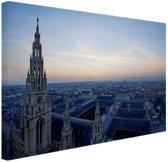 Rathaus Wenen Canvas 30x20 cm - Foto print op Canvas schilderij (Wanddecoratie)