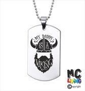 Ketting RVS - My Daddy Is A Viking