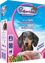 Renske Vers Vlees Hondenvoer - Lam - 10 Kuipjes x 395 gr