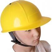 Bouwvakker helm voor kinderen geel
