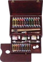 Rembrandt olieverf kist 24 tubes met accessoires - Master